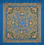 Озерный край 1622-13, павлопосадский платок шерстяной с шерстяной бахромой, фото 2