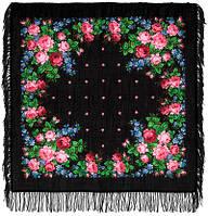 Варенька 1317-18, павлопосадский платок шерстяной с шерстяной бахромой   Первый сорт    СКИДКА!!!