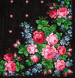 Варенька 1317-18, павлопосадский платок шерстяной с шерстяной бахромой, фото 5