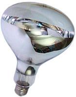 Инфракрасная лампа для обогрева свиней и птиц R125, 100 Вт, Е27 (прозначная)