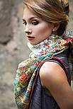 Аленушка 1347-3, павлопосадский платок шерстяной  с оверлоком, фото 3