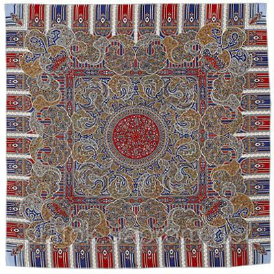День рождения 789-4, павлопосадский платок шерстяной  с оверлоком   Первый сорт