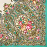 Золушка 1298-11, павлопосадский платок шерстяной  с оверлоком, фото 2