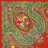 Золушка 1298-3, павлопосадский платок шерстяной  с оверлоком   Стандартный сорт, фото 2