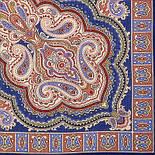 Искорка 1077-13, павлопосадский платок шерстяной  с оверлоком, фото 2