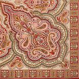 Искорка 1077-5, павлопосадский платок шерстяной  с оверлоком, фото 2