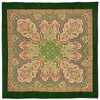 Искорка 1077-9, павлопосадский платок шерстяной  с оверлоком