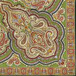 Искорка 1077-9, павлопосадский платок шерстяной  с оверлоком, фото 2