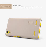 Чехол-бампер и плёнка NILLKIN для телефона Lenovo K3 золотистый