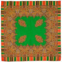 Терем 1377-9, павлопосадский платок шерстяной  с оверлоком