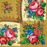 Изразец 1284-3, павлопосадский платок шерстяной  с осыпкой (оверлоком), фото 2