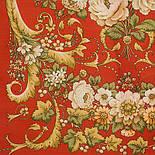 Дива 1474-55, павлопосадский шарф-палантин шерстяной с шелковой бахромой   Стандартный сорт, фото 2
