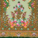 Дивное лето 1497-9, павлопосадский шарф шерстяной  с шелковой бахромой, фото 2