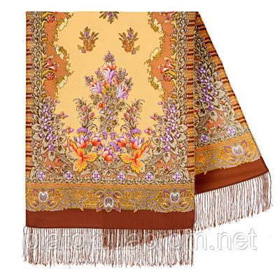 Дивное лето 1497-66, павлопосадский шарф шерстяной  с шелковой бахромой