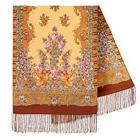 Дивное лето 1497-66, павлопосадский шарф шерстяной  с шелковой бахромой, фото 1