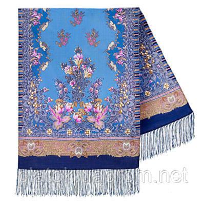 Дивное лето 1497-63, павлопосадский шарф шерстяной  с шелковой бахромой