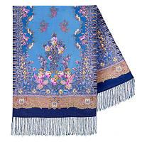 Дивное лето 1497-63, павлопосадский шарф шерстяной  с шелковой бахромой, фото 1