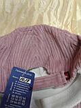 Розовая бейсболка  из крупного хлопкового вельвета 55-57-58, фото 6