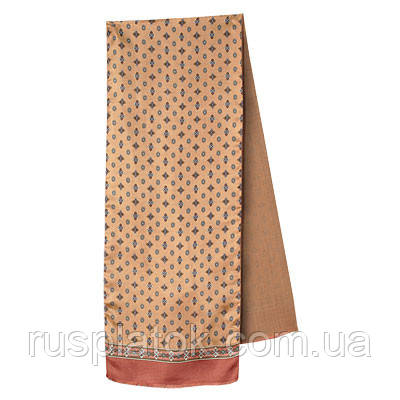 Герцог 936-6, павлопосадский шарф (кашне) вовна шовк (атлас) двосторонній чоловічий з осыпкой