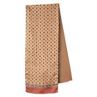 Герцог 936-6, павлопосадский шарф (кашне) шерсть -шелк (атлас) двусторонний мужской с осыпкой   Первый сорт