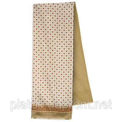 Гольф 1275-1, павлопосадский шарф (кашне) двусторонний мужской с осыпкой   Стандартный сорт