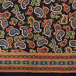 Граф 1418-18, павлопосадский шарф (кашне) шерсть-шелк (атлас) двусторонний мужской с осыпкой, фото 5