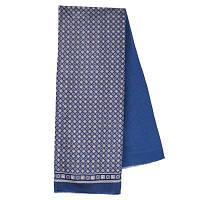 Каскад 938-14, павлопосадский шарф (кашне) шерсть -шелк (атлас) двусторонний мужской с осыпкой