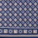 Каскад 938-14, павлопосадский шарф (кашне) шерсть -шелк (атлас) двусторонний мужской с осыпкой, фото 2