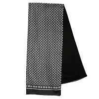 Каскад 938-19, павлопосадский шарф (кашне) шерсть -шелк (атлас) двусторонний мужской с осыпкой