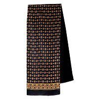 Эдельвейс 937-18, павлопосадский шарф (кашне) шерсть -шелк (атлас) двусторонний мужской с осыпкой