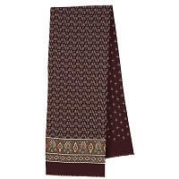 Визит 588-17, павлопосадский шарф (кашне) шерстяной  двусторонний мужской с осыпкой