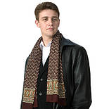 Визит 588-17, павлопосадский шарф (кашне) шерстяной  двусторонний мужской с осыпкой, фото 2