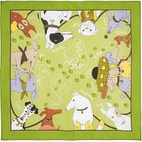 Винил и компания 1352-9, павлопосадский платок (на голову, шейный) хлопковый (батистовый) с подрубкой