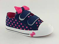 Кеды детские Шалунишка для девочек, коттон, стелька текстиль, размеры 32-37