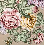 Аромат любви 1378-1, павлопосадский платок (шаль, крепдешин) шелковый с шелковой бахромой, фото 10