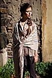 Аромат любви 1378-1, павлопосадский платок (шаль, крепдешин) шелковый с шелковой бахромой, фото 9