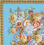 Берег грез 1389-1, павлопосадский платок (шаль, крепдешин) шелковый с шелковой бахромой, фото 2