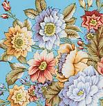 Берег грез 1389-1, павлопосадский платок (шаль, крепдешин) шелковый с шелковой бахромой, фото 3