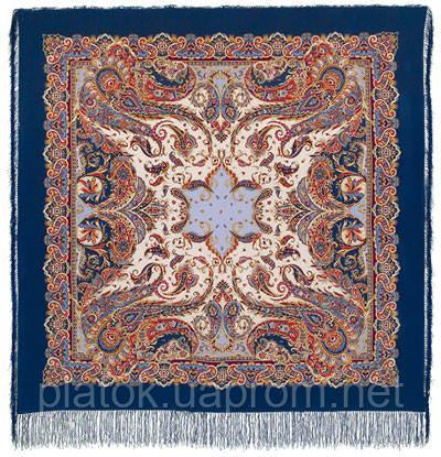 Восточные сладости 1429-14, павлопосадская шаль шелковая с шелковой бахромой   Стандартный сорт
