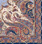 Восточные сладости 1429-14, павлопосадская шаль шелковая с шелковой бахромой   Стандартный сорт, фото 7