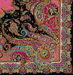 Восточные сладости 1429-18, павлопосадский платок (шаль, крепдешин) шелковый с шелковой бахромой, фото 2