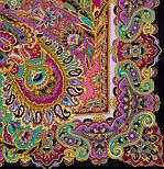 Восточные сладости 1429-18, павлопосадский платок (шаль, крепдешин) шелковый с шелковой бахромой, фото 3