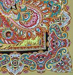 Восточные сладости 1429-2, павлопосадский платок (шаль, крепдешин) шелковый с шелковой бахромой, фото 2