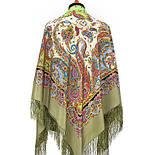 Восточные сладости 1429-2, павлопосадский платок (шаль, крепдешин) шелковый с шелковой бахромой, фото 4