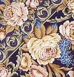 Королевский бал 1470-13, павлопосадский платок (шаль, крепдешин) шелковый с шелковой бахромой, фото 2