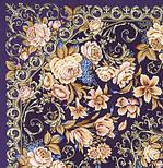 Королевский бал 1470-13, павлопосадский платок (шаль, крепдешин) шелковый с шелковой бахромой, фото 3