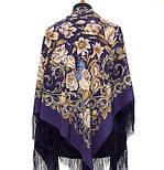 Королевский бал 1470-13, павлопосадский платок (шаль, крепдешин) шелковый с шелковой бахромой, фото 5