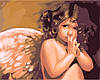 """Картина раскраска по номерам на холсте """"Ангелочек"""", 40х50см. (MG295, КН295)"""