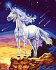 """Раскраска по номерам на холсте """"Единорог"""", 40х50см. (КН309, MG309, G153)"""