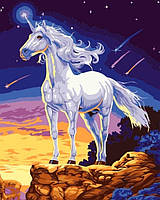 """Раскраска по номерам на холсте """"Единорог"""", 40х50см. (КН309, MG309, G153), фото 1"""
